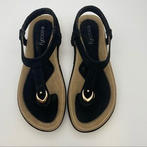 SOCOFY Black comfort Sandal